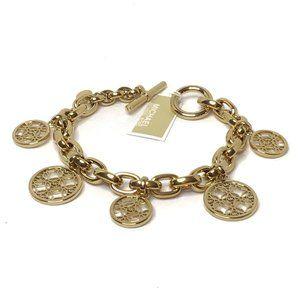 NWT - Michael Kors Monogram Disc Charm Bracelet